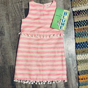 GB Girls Sleeveless Lined Textured Dress Size 12